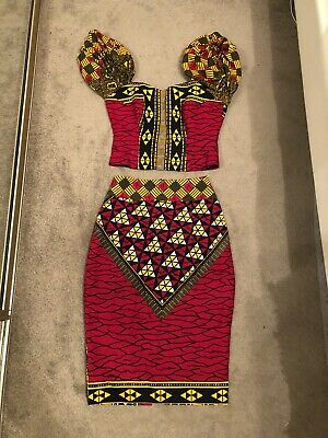 New Ladies Bright Colour African Print Style Bandeau Top