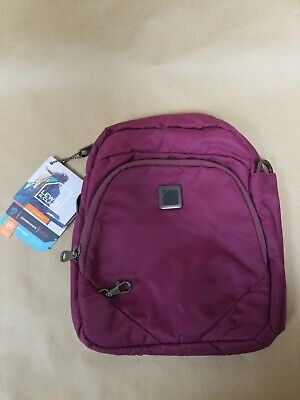 Lewis N Clark Anti-Theft Convertipack Backpack Plum No Strap