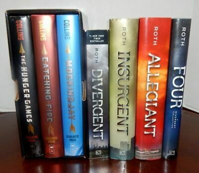 Lot of 7 Post-Apocalyptic Teen Fiction Books 4 Divergent Series 3 Hunger Games