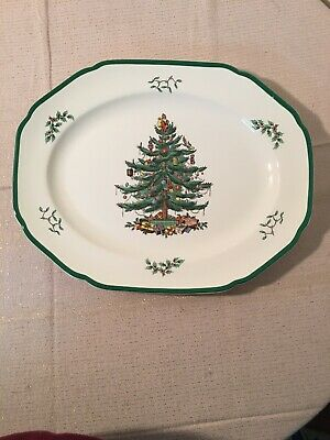 SPODE Christmas Tree England Large Serving Platter S3324S 41 14 3/4""