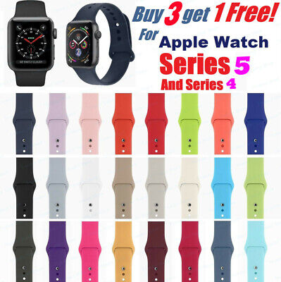 For Apple Watch Silicone Band Strap iWatch Sports Series 1/2/3/4/5 38/42/40/44mm