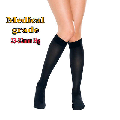 AUS Travel Flight Socks Medical Compression Support Stockings Closed Toe