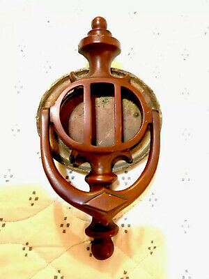 Antique Brass / Bronze Speakeasy Door Knocker Peep Hole From Sicilian Club Akron