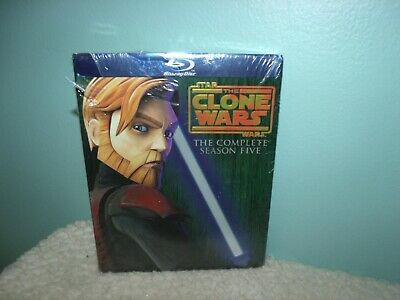 Star Wars: The Clone Wars - The Complete Season Five (Blu-ray Disc, 2013, 2-Dis…