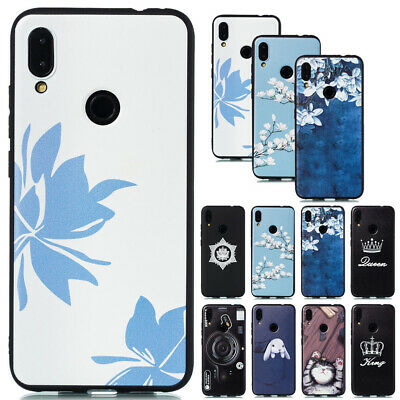 For Xiaomi Mi 9 Redmi 7A Note 7 Creative Soft Silicone Painted TPU Case Cover