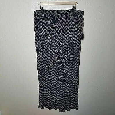 A New Day Pants XXL Palazio Printed Pull On Elastic Waist Drawstring Wide Leg