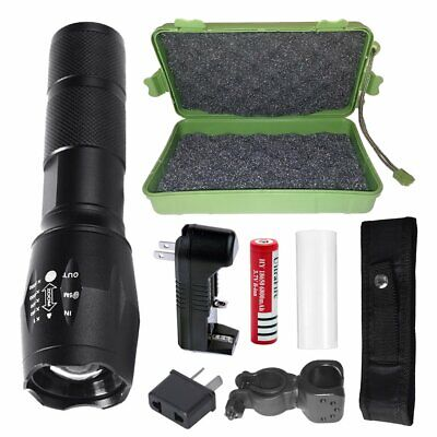 20000lm Shadowhawk Rechargeable Tactical Flashlight LED Torch Work Light