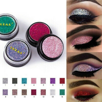 Glitter Makeup Long Lasting Natural Eye Shadow Cosmetic Shimmer Women Eyeshadow