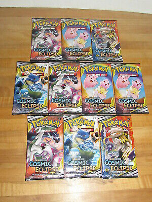 Pokemon TCG Sun & Moon Cosmic Eclipse Lot of 10 Booster Packs new factory sealed