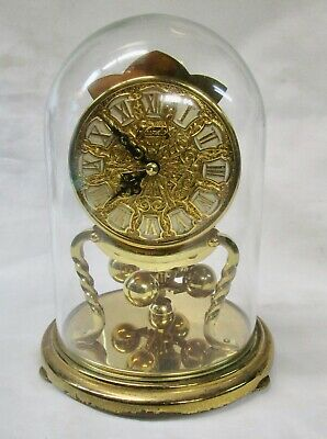 Anniversary clock for spares or repair, glass dome. No reserve.