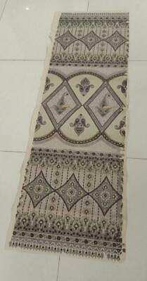 Long Textile designs 60 inches hand painted indian design antique collectible