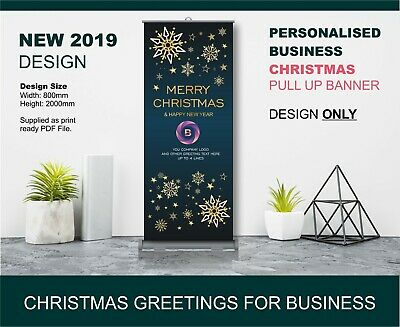 Personalised Business Christmas Large Pull Banner Design - XM01
