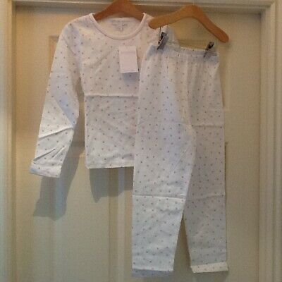 NEW scattered pyjamas spot white with pink spots age 5 - 6