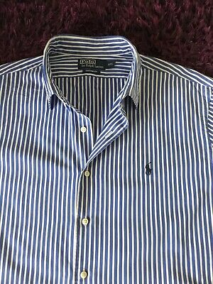 Super Cool 100% Genuine Ralph Lauren Custom Fit Striped Shirt In XXL