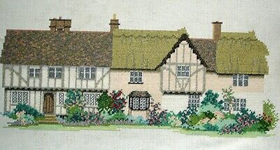 Derwentwater Completed Counted Cross Stitch Unframed Picture Essex Cottages