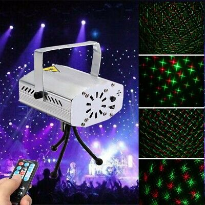 Laser Projector Stage Lights Mini LED RGB Lighting Aluminum DJ Disco KTV Party