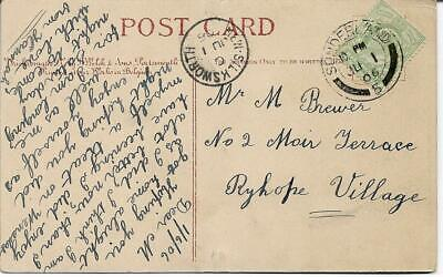 NEW SILKSWORTH CANCEL ON 1906 KING EDWARD VII ½d GREEN POSTCARD REF 2896