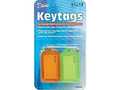SecurIT Key Tags, Assorted Colors, 4/Pack (04993) PMF04993