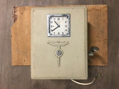 Smiths Autoprint Antique Clocking In On Machine: Industrial Mill / Factory Retro