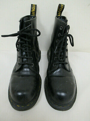 Dr Martens Airwair Black Leather Steel Toe Safety Boots Size UK 9 / EU 43