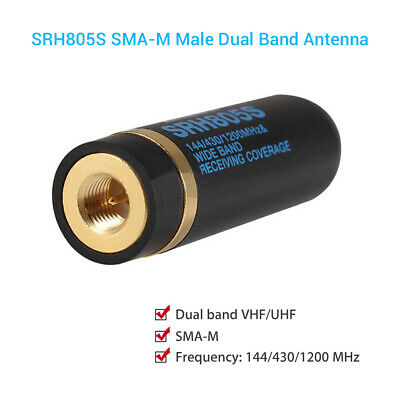 144/430 MHz SRH805S Female / SMA-M U/V Dual Band Antenna For Baofeng GT-3 Wouxun