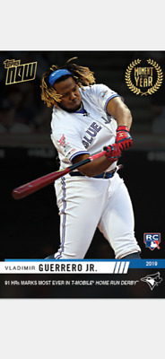 2019 Topps Now Moment Of The Year Rookie Card Jays Vladimir Guerrero Jr #Moy-12