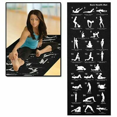 Yoga Mat 28 Position Fitness Non Slip Exercise Guide Workout Physio Gym Pilates