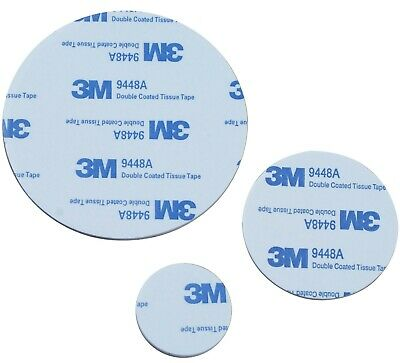 3M EVA PADS ~ BLACK or WHITE ~ 30mm, 50mm, 80mm dia ~ DOUBLE SIDED Foam Tape NEW