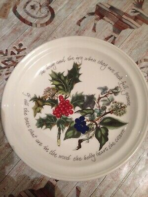 Portmeirion Holly And Ivy Cake Plate