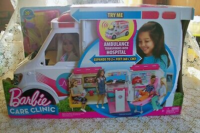 NEW ~ Barbie Care Van Clinic Playset with 20 + Accessories ~ GREAT FUN GIFT !!!