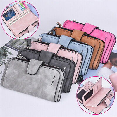Women Fashion Soft Leather Long Wallet Ladies Credit Card Clutch Purse  coucou