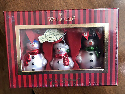New Unopened Waterford Holiday Heirlooms Collectible Snowmen Set 3 Ornaments