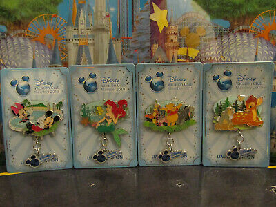 2019 Disney Vacation Club DVC Member Exclusive Complete 4 Pin Set / Collection