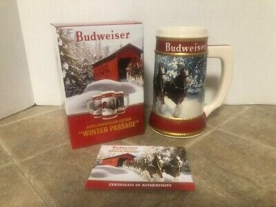 Budweiser 2019 Holiday Stein NEW IN BOX 40th Anniversary Christmas stein NEW Bud