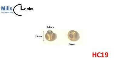 Metal mechanical clock hands, replacement, 75mm black tapered baton, (CH4)