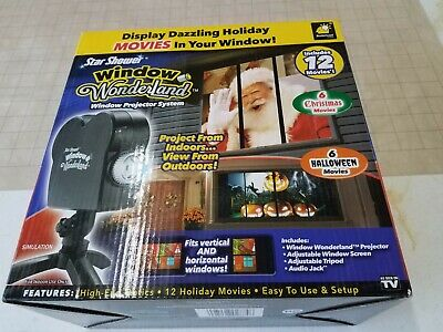 Christmas Halloween Star Shower Window Wonderland 12 Movies Holiday Projector