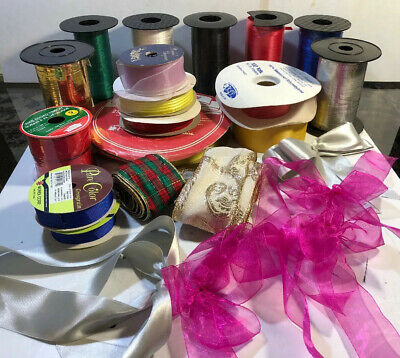 Vintage Ribbons Big Lot Different Color And Style