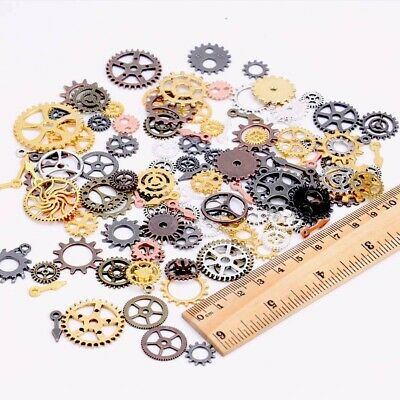 10 Clock Gears Clock Parts Metal Gears Steampunk Assorted Lot Bronze Silver Cogs