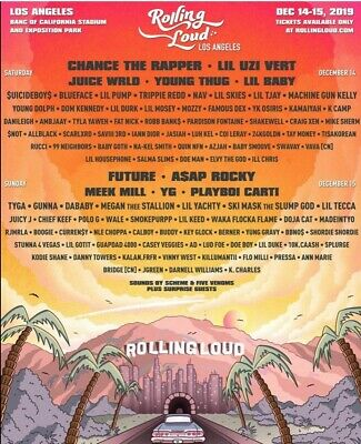 2019 Rolling Loud Festival Tickets VIP-2DAY Passes (2 pack tickets), Los Angeles