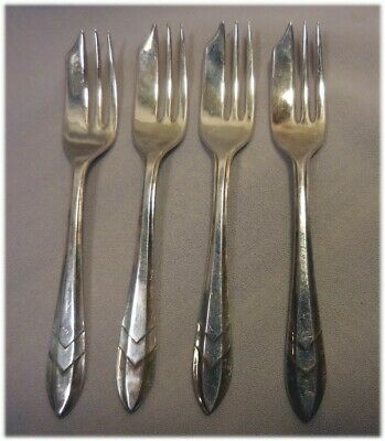 Vintage Sheffield Silver Plate Epns Lot Of 4 Small Desert Spoons