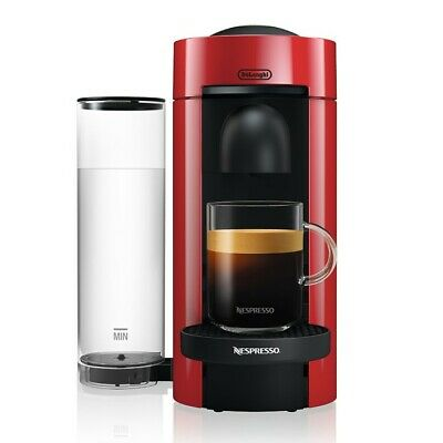NEW Nespresso VertuoPlus Coffee Maker & Espresso Machine by DeLonghi RED