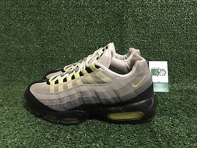 2010 NIKE AIR MAX 95 COOL GREY NEON YELLOW WHITE BLACK ATMOS