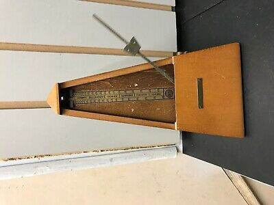 Vintage Seth Thomas Metronome De Maelzel Wooden Works!! Music Beat Piano Band