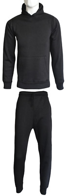 NEW KIDS PLAIN PULLOVER TRACKSUIT SET FLEECE HOODIE TOP & BOTTOMS AGE 7 TO 14yr