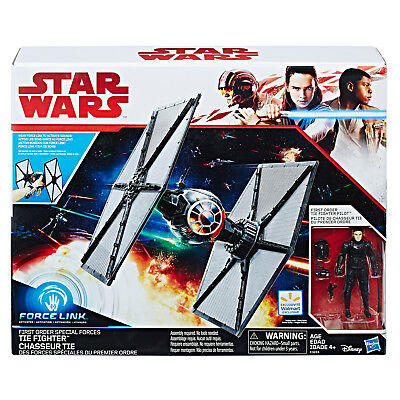 Star Wars THE LAST JEDI FORCE LINK FIRST ORDER TIE FIGHTER PLAYSET EXCLUSIVE