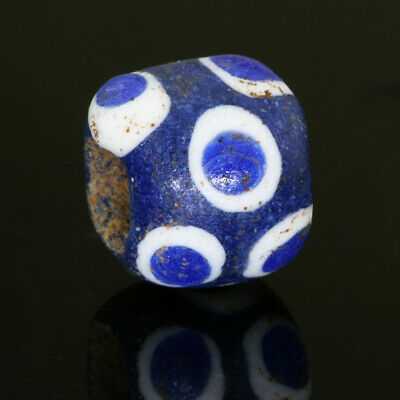 """""""Phoenician"""" beads: genuine ancient bead with stratified eyes & sand/clay core"""