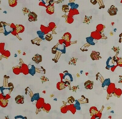 """BTY Little Red Riding Hood By WINDHAM 100% COTTON 45"""" Wide Storybook"""