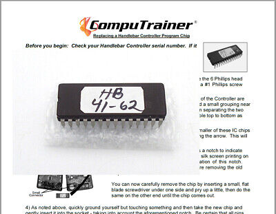New Computrainer Racermate Controller Head Chip 4543 RacerMate One Trainer Road