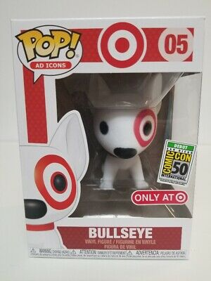 Funko Pop! AD ICONS #05 Flocked Bullseye Target Dog SDCC 2019 Exclusive Box2