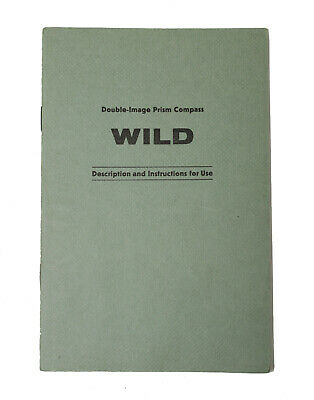 Original Users Manual For Wild Heerbrugg Prism Compass, Level,Transit, Surveying